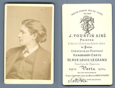J. Tourtin Aîné, Paris, Victorien Sardou, Auteur dramatique français  CDV vintag