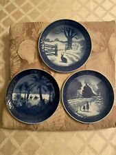 Royal Copenhagen Christmas Plate Lot Of 3 - 1971,1972,1973 Made In Denmark