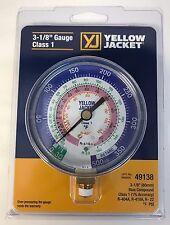 "Yellow Jacket 49138 3-1/8"" Blue Compound 30"" 0-350 psi R-22/404A/410A Gauge"