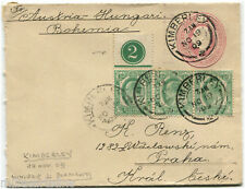 UK, PREPAID ENVELOPE CAPE OF GOOD HOPE 1 PENNY, KIMBERLEY, 1909 + 3 STAMPS     m