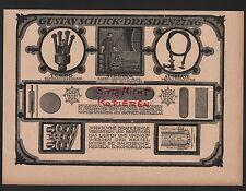 Dresde, publicidad 1918, Gustav fangosos turbo caldera tubo limpiador Sirocco