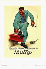 Original vintage poster print BALLY SWISS WORKER SHOES 1929 Laubi