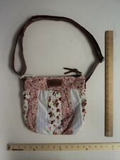 Wall Flower Pink Rose's & Lace Satchel Crossbody Hand Bag Purse - FLASH SALE