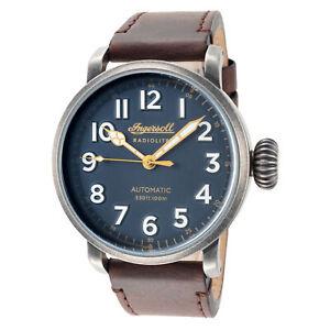 Ingersoll Men's I04803 Linden Blue Dial 46mm Leather Watch