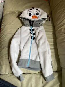 Disney's Frozen Olaf front zip hoodie Size 4T Toddler Kids White Hoodsbee