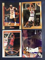1998 1999 Topps Vince Carter #199 Rookie 4 Card Lot RC Inserts Bowman Gold