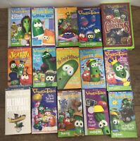Lot 15 VEGGIE TALES Show Christian Children's VHS Video Tapes Lot Bundle