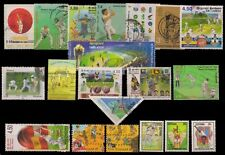 CRICKET ON STAMPS-20 All Different Stamps, Mostly Used