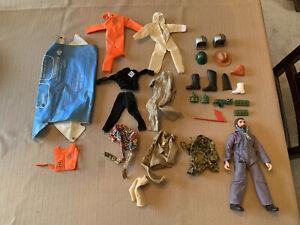 Large Lot Vintage Mego Action Jackson Figure, Outfits, Accessories!