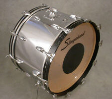 70's SLINGERLAND 14x22 CHROME ON WOOD BASS KICK DRUM, 3 PLY W/ RINGS