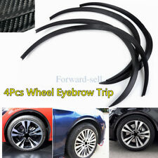 4 x 3D Carbon Fiber Wheel Eyebrow Protector Arch Strip For Audi BMW Honda Ford