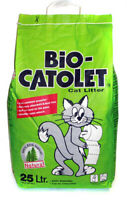 Bio Catolet Litter (100% Recycled Paper) 25 Litre Absorbent Dust Free Cat Food