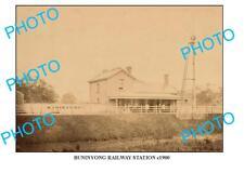 LARGE PHOTO OF OLD BUNINYONG RAILWAY STATION, VIC c1900