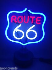 US ROUTE 66 @ Neonleuchte Neon signs Leuchtreklame Motor Bike sign