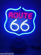 US Route 66 @ lámpara de neón neon signs neón motor bike Sign