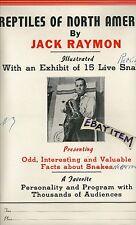 C1940 POSTER Jack Raymon HERPETOLOGY snake RATTLESNAKE reptiles EXHIBIT