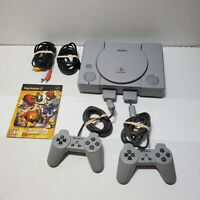 Original Sony Playstation 1 PS1 Console w 2 Control & Cords Tested & Working