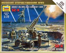 Zvezda 1/72 soviet 85mm anti aircraft gun 52-K Z6148