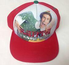 "ELF Movie Baseball Cap Hat ""Santa I Know Him!"" Ferrell Snapback One Size BUDDY"