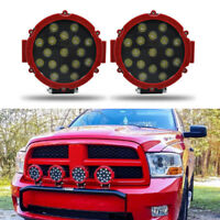 """51W 7"""" LED Work Light Spot RED Round Offroad Fog Driving 4WD Boat UTE ATV SUV&BD"""