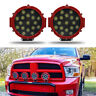 """51W 7"""" LED Work Light Spot RED Round Offroad Fog Driving 4WD Boat UTE ATV SUV JC"""