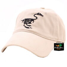 NEW BANDED GEAR FITTED STRETCH-FIT CAP HAT TAN STONE WITH DUCK SKELETON LOGO