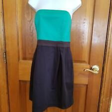 French Connection Strapless Cocktail Dress Sz 12 Green Top Blue Bubble Skirt
