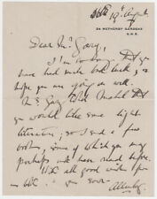 FIELD MARSHAL LORD ALLENBY, Autograph Letter Signed