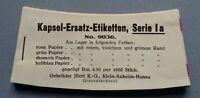 altes Heft Geheft Weinetiketten Spirituosenetiketten Halsetiketten Illert Hanau