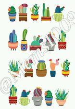 Cactus Nail decals (Water Decals) Cactus nail art