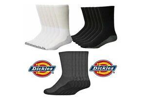 1-12 Pair DICKIES Mens Work Crew Work & Sport Socks Thick Heavy Duty 6-11 Lot
