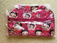 "Betty Boop Duffle Bag, NEW - SEALED, canvas, 19"" x 12"" x 7.5"", travel gym bag"