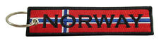 NORWAY Flag Key Chain, 100% Embroidered