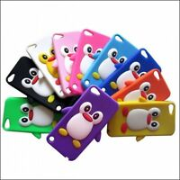 3D Cute Penguin Soft Silicone Gel Case Skin For iPod Touch 5 5th Generation
