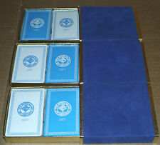 1977 RARE THE BOND CLUB OF CHICAGO ESTATE LOT OF (6) BRAND NEW DECKS ALL SEALED!