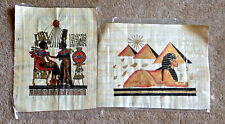 Lot of (5)Egyptian papyrus 100% Authentic shipped from USA w/ FREE Gift! 16x13