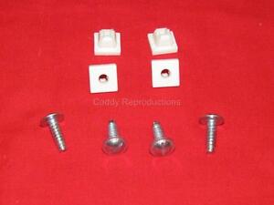 1930 - 1966  Cadillac License Plate Fasteners / Inserts