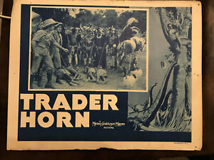 "Trader Horn 1936RR MGM 11x14"" jungle lobby card Harry Carey Duncan Rinaldo"