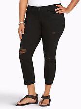 Torrid Ankle Skinny Jeans Black Wash With Destruction 5X 28 5 #2138