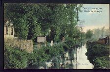 Carte Postale Ancienne 80 - AILLY sur NOYE (Somme) Bords de la Noye
