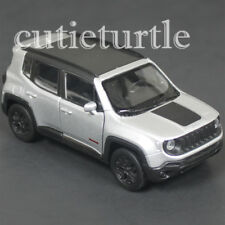 """4.5"""" Welly 2017 Jeep Renegade Tailhawk Diecast Toy Car 43736D Silver"""