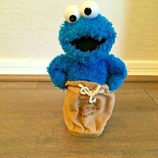 """Sesame Street 11"""" Cookie Monster Potato Sack Racer Plush Stuffed 2002 Mattel"""