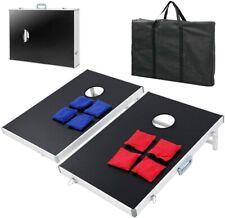 Original 2X Cornhole Board Set mit Tragetasche und 8 Bean Bags Wurfspiel