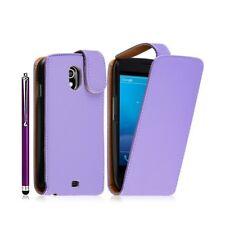 Housse coque étui pour Samsung Galaxy Nexus couleur violet + stylet luxe + film