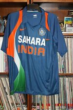 Sahara India Cricket Nike Fit Dry Blue Jersey Shirt Mens XL  (b111)