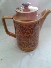 Mid Century Retro Brown Flower Ceramic Teapot Coffeepot Japan