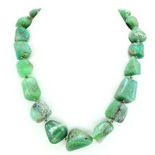 Necklace natural Chrysoprase antique gemstone 925 solid sterling silver 161 gram