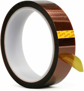 1 HEAT TRANSFER RESISTANT TAPE ADHESIVE 20mm x 33m POLYIMIDE for SUBLIMATION MUG