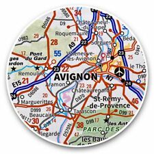 2 x Vinyl Stickers 25cm - Avignon France French Travel Map  #44187