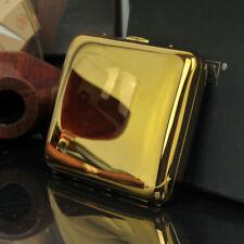 Copper Smoke Holder Box Gold Color 16 Cigarette Case Tobacco Pocket